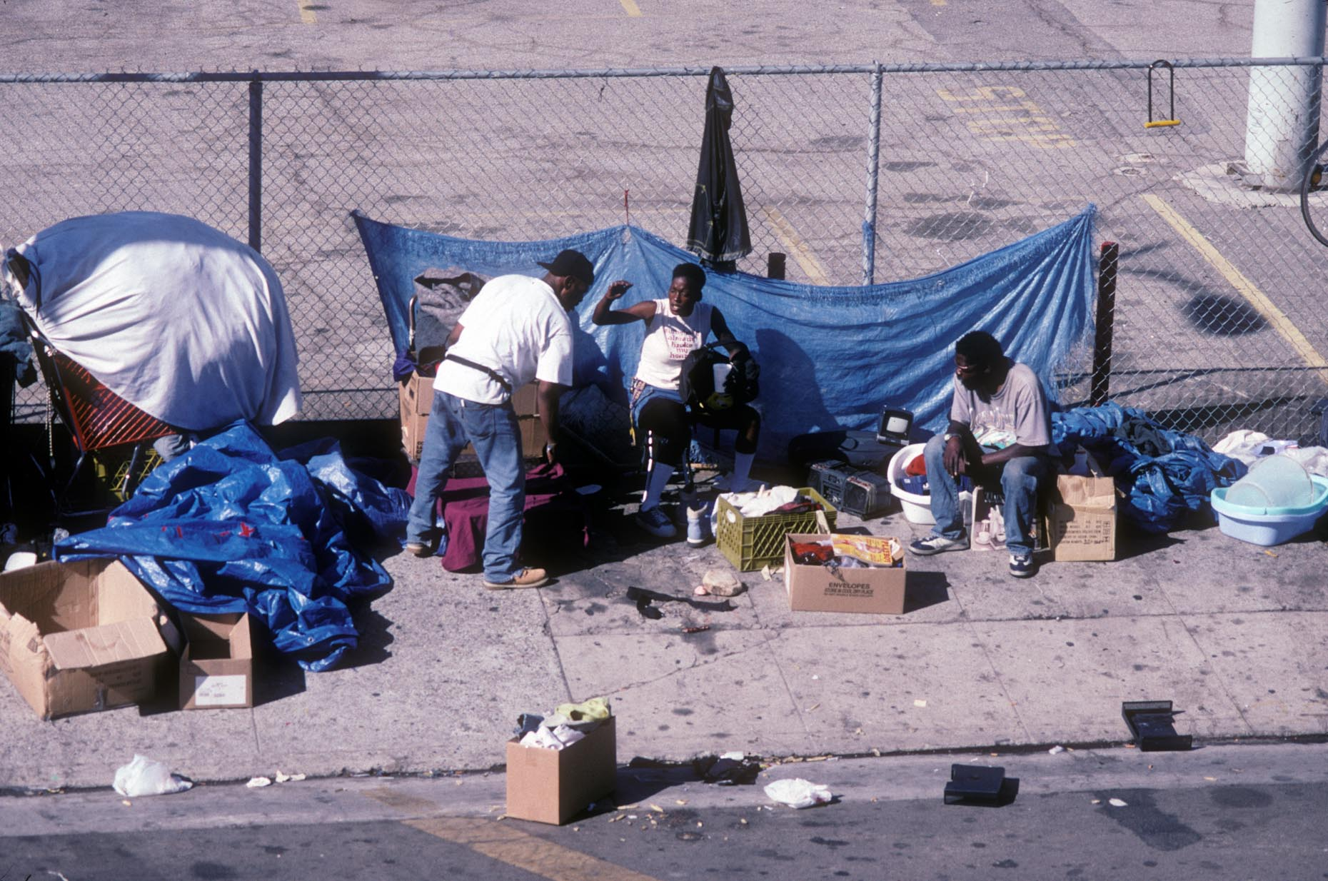 02_SW corner of 3rd St and Main St-DUP5., Skid Row, 2003.jpg