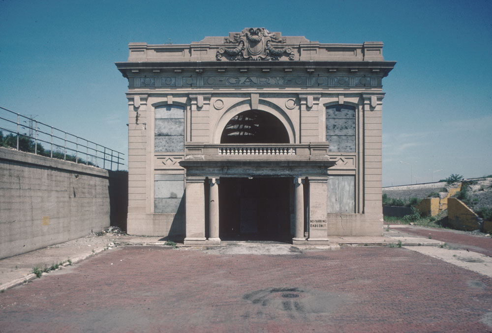 1-Former train station, Broadway by I 90, Gary, 1989_