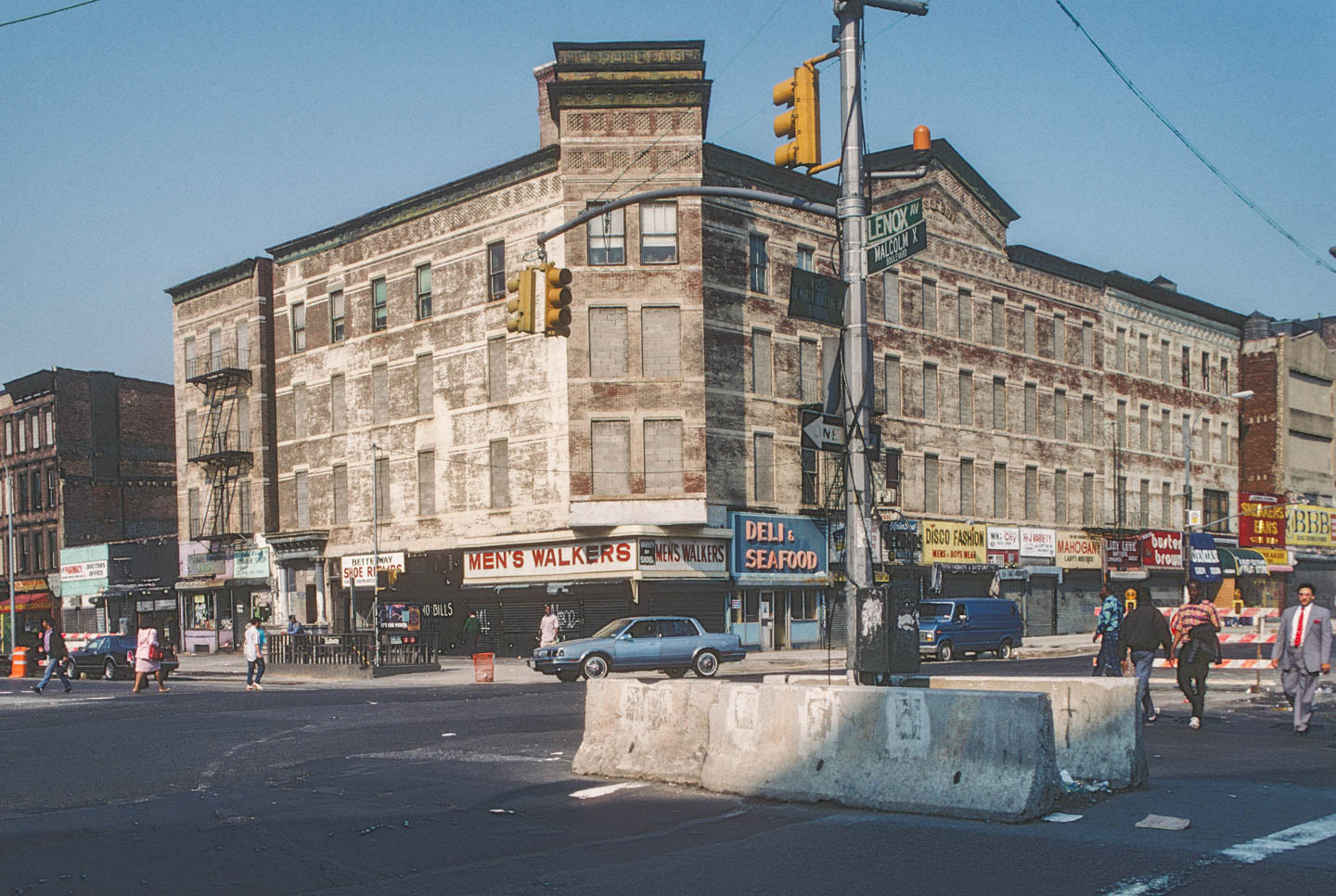 1-SW corner of Malcolm X Blvd. at W. 125th St., Harlem 1989_