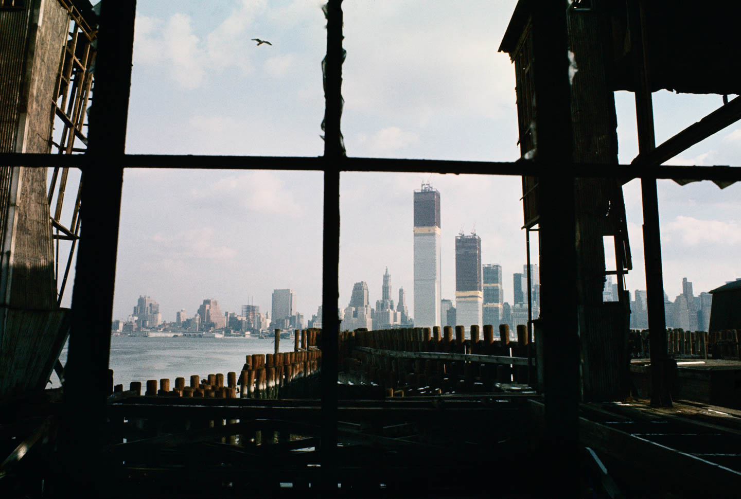 1-View from abandoned pier, Jersey City, New Jersey, 1970_