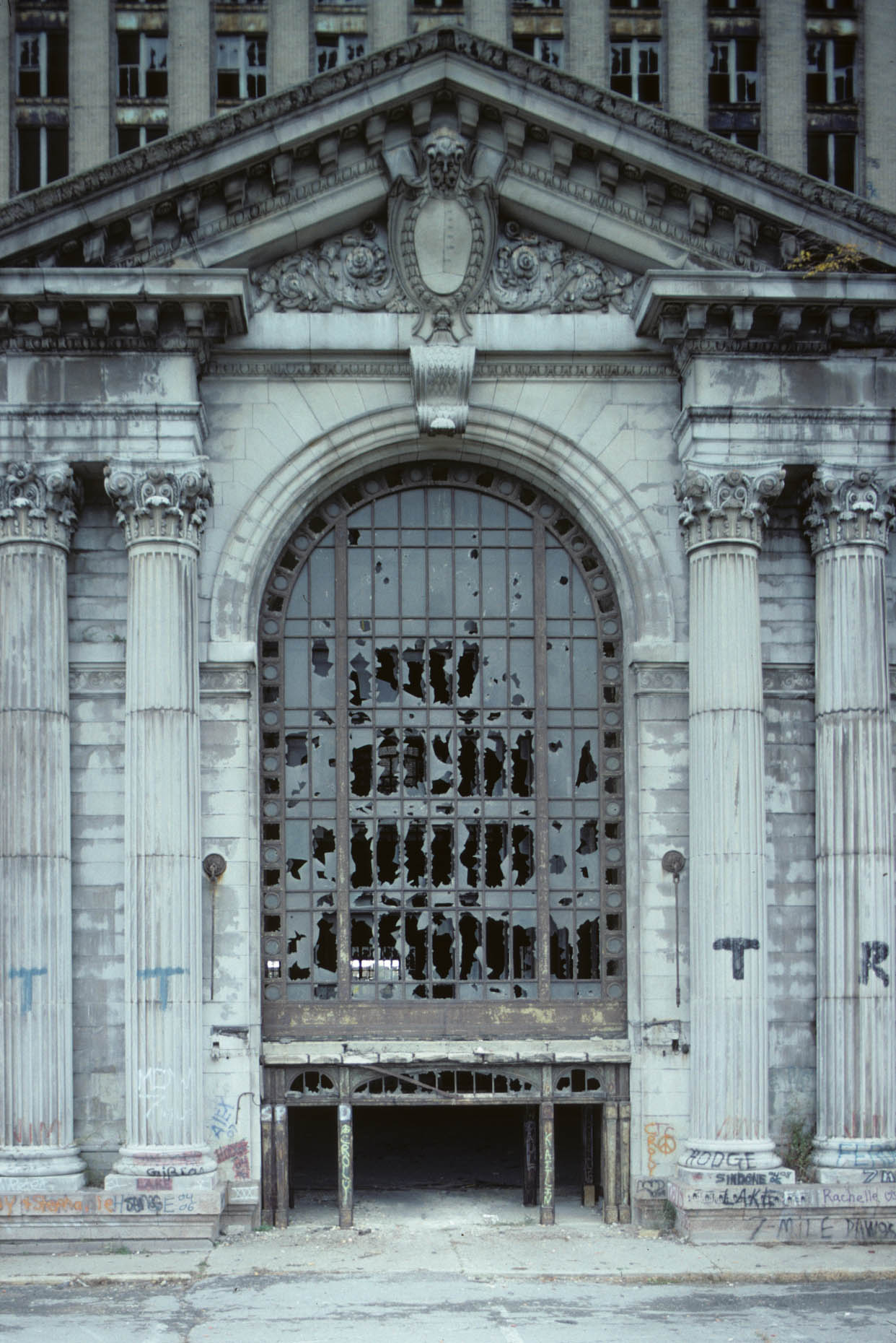 12_Entrance, Former Michigan Central RR Station, Detroit, 2008_.jpg