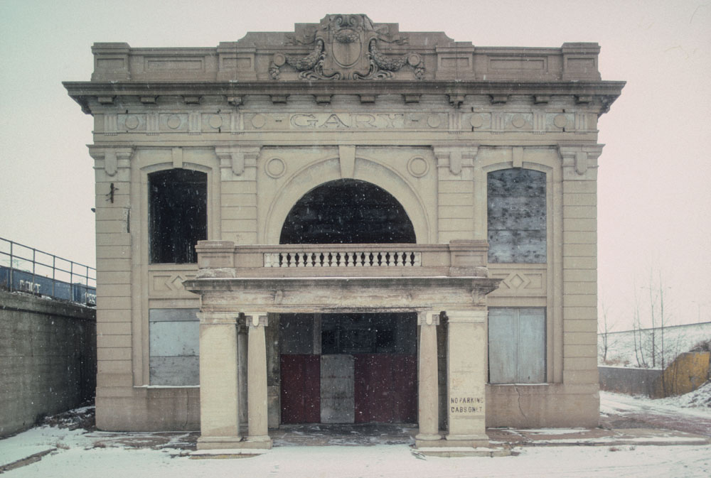 2-Former train station, Broadway by I 90, Gary, 1994_