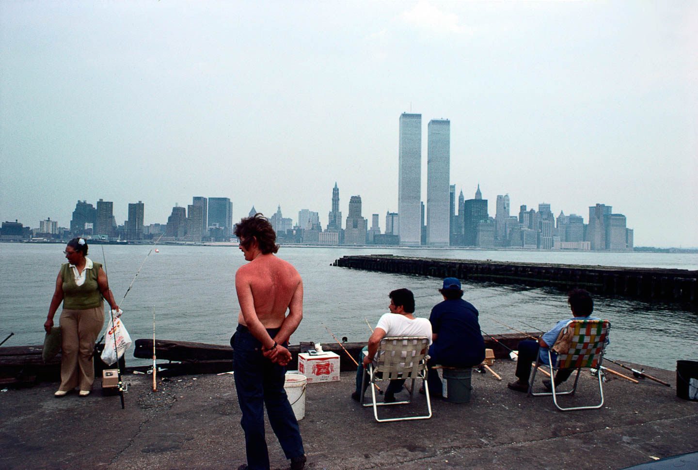 2-View of Lower Manhattan from Exchange Place, Jersey City, New Jersey, 1977_