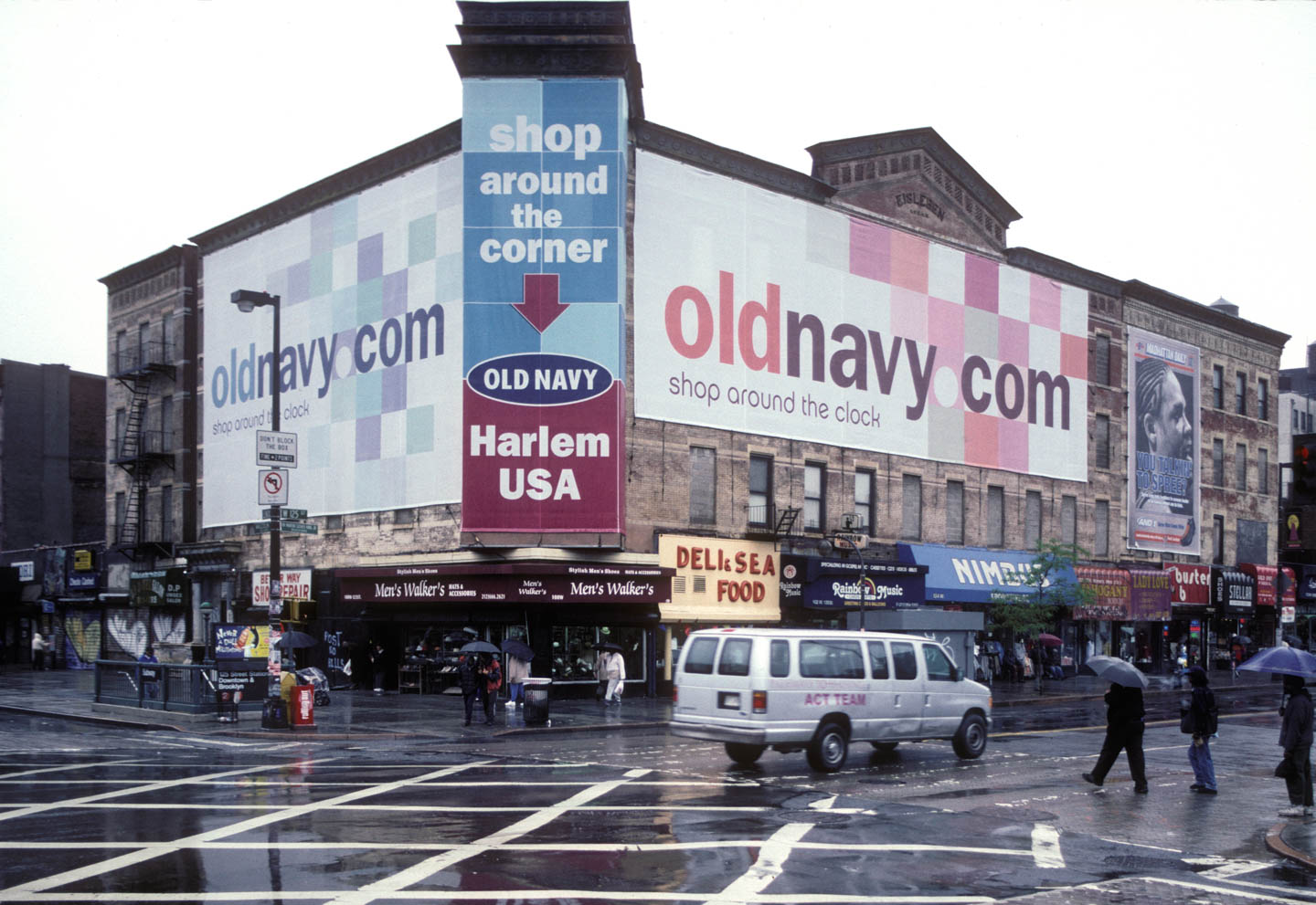 3-50- SW corner of Malcolm X Blvd. at W. 125th St., Harlem 2001_