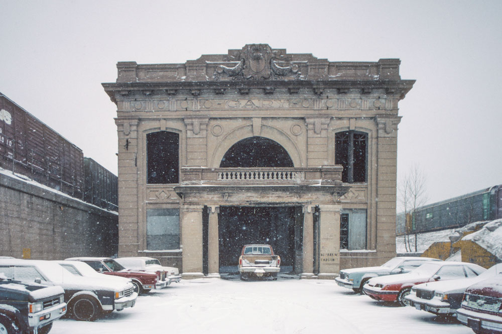 3-Former train station, Broadway by I-90, Gary, 1996_