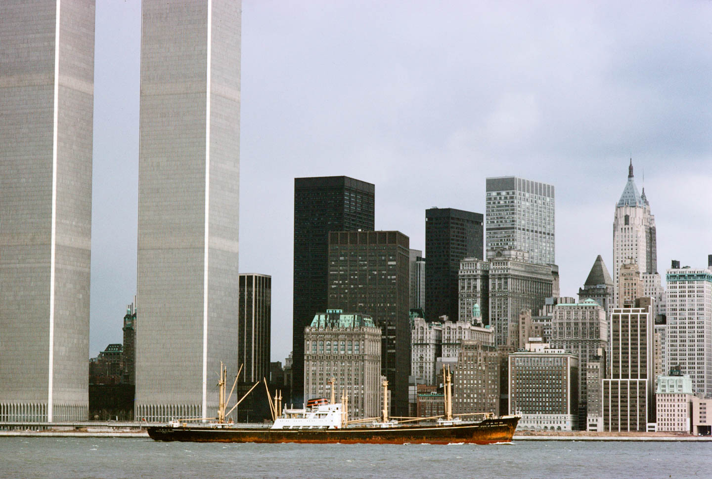 3-View west from Exchange Place, Jersey City, November 1977_