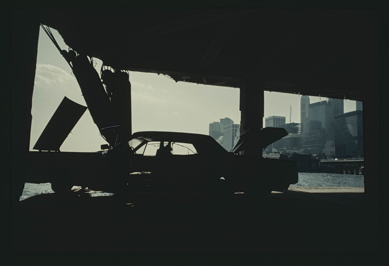 33-StrippedCarundertheBrooklynBridgeManhattan1970_