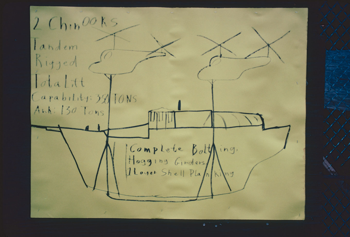 35-Drawing by Kea Tawana depicting how the ark could be transported from the Central Ward of Newark to the Ocean, Bergen St. at 14th Ave