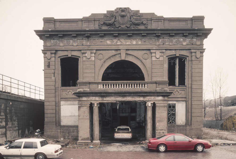 4-Former train station, Broadway by I 90, Gary, 1997_